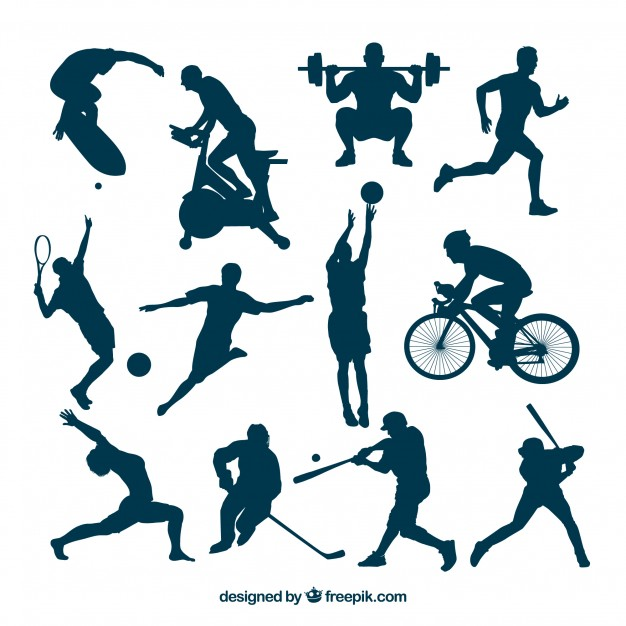 626x626 Sport Silhouettes In Hot Actions Vector Free Download