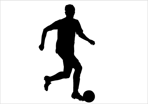 501x352 Football Player Silhouette Vector Download Silhouette Graphics