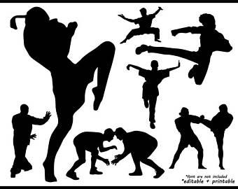 340x270 Martial Art Clipart Etsy