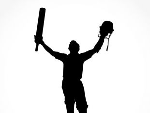 310x233 Sport Silhouette Cricket Batsman Free Vector Free Vectors Ui