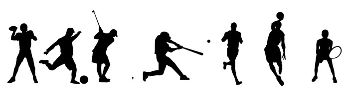 700x200 Sport Silhouettes Vector Free Download Free Vector Art
