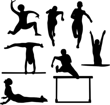 385x368 Sports Silhouette Vector Free Vector Download (7,520 Free Vector