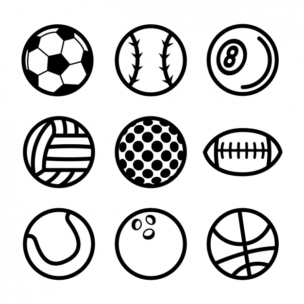 626x626 Sport Balls Collection Vector Free Download