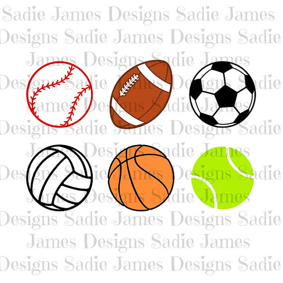 570x570 Sports Balls Collection Svg And Silhouette Studio Cutting