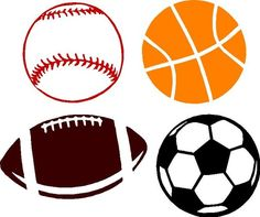 236x197 Sports Clip Art Vintage Sports Balls Clipart, Football Clipart