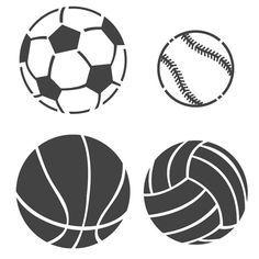 236x236 Sports Ball Stencils