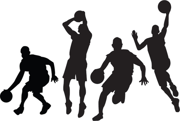 600x404 T Ball Players Silhouettes Free Vector Download (8,997 Free Vector