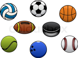 320x237 Different Sports Game Balls. Black Drop Shadow Icons Set. Active