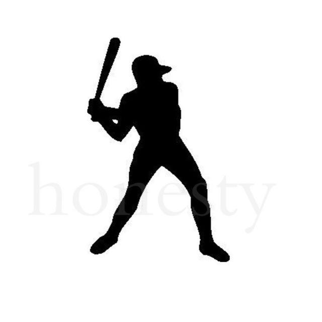 640x640 Baseball Sports Player Silhouette Car Sticker Laptop Truck Home