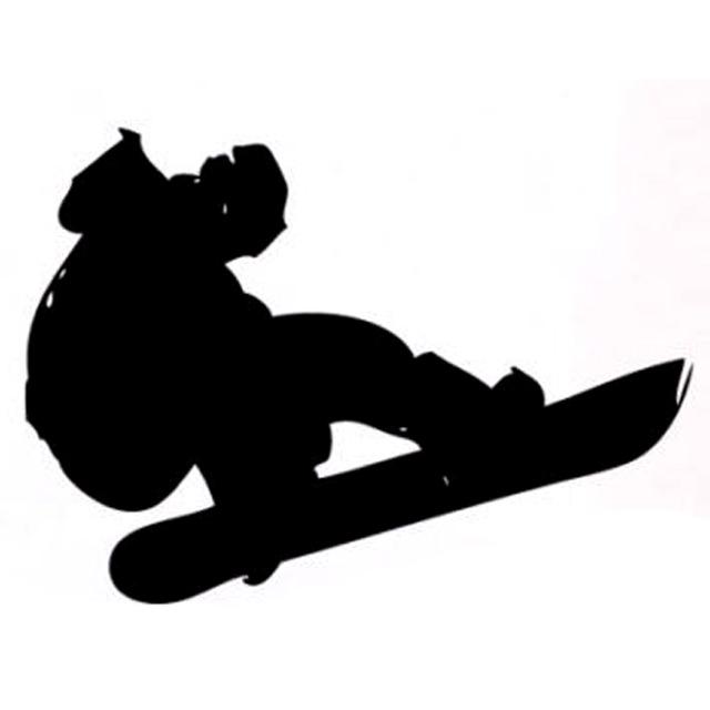 640x640 14.1cm10cm Interesting Snowboard Extreme Sports Decal Vinyl Car