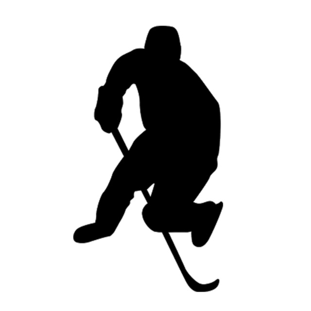 640x640 Hockey Ice Skating Sports Car Sticker Ice Graphic Vinyl Roller