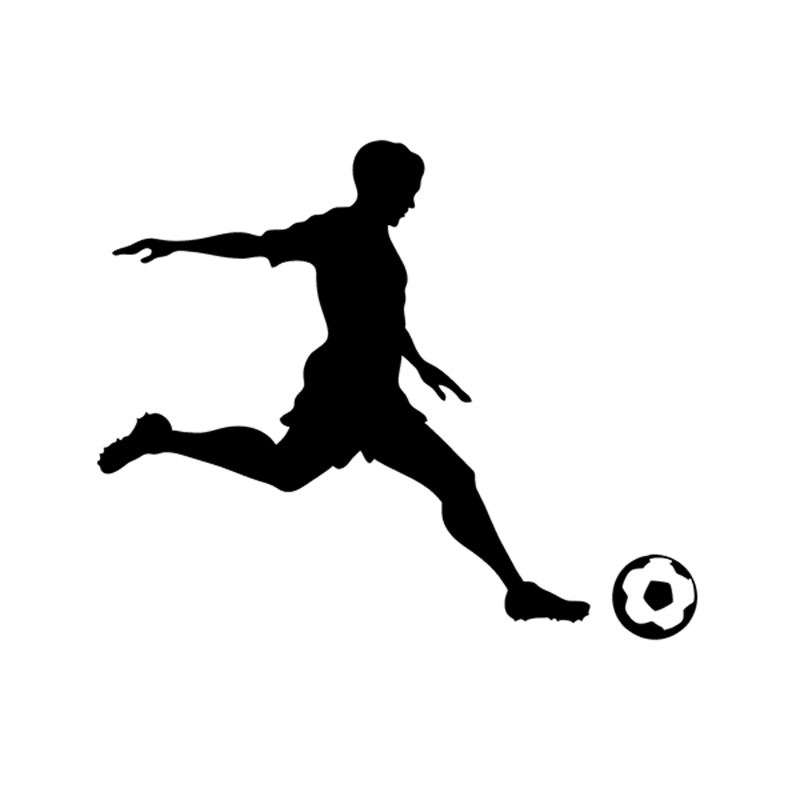 800x800 Soccer Player Sports Vinyl Decal Soccer Ball Sticker For Boat Rv