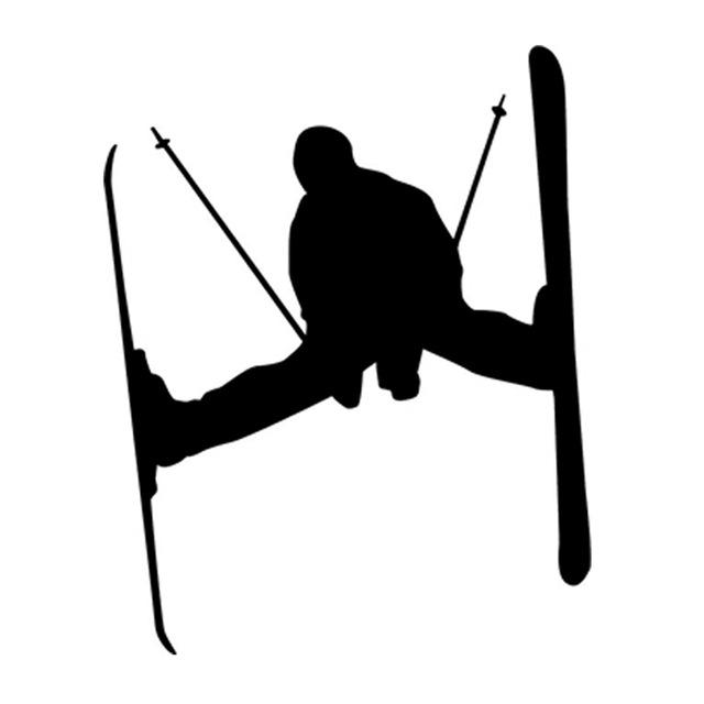 640x640 Tahoe Skier Ski Skiing Silhouette Car Window Bumper Vinyl Sticker