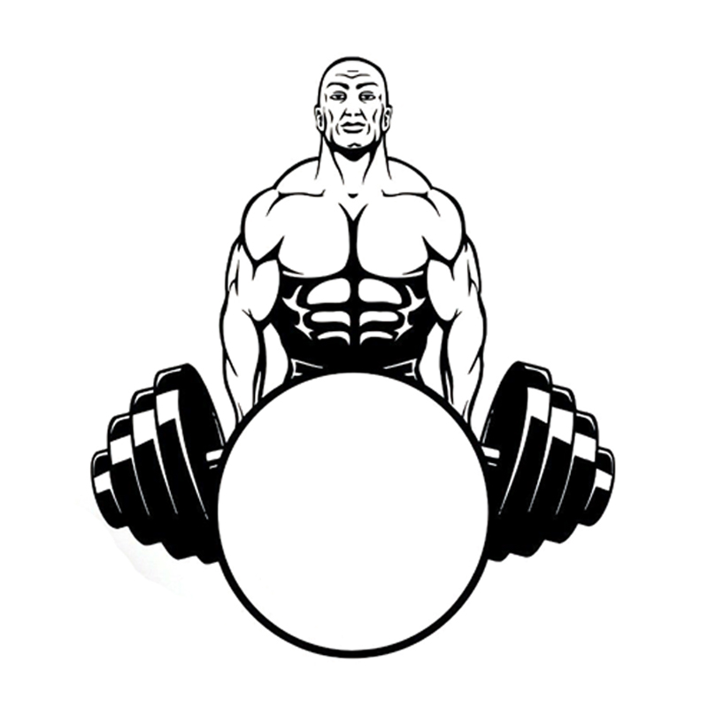 800x800 14.7cm16.9cm Interesting Weightlifting Bodybuilding Sports
