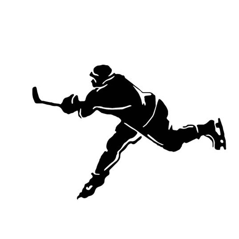 800x800 17.312.1cm Ice Hockey Player Sports Car Stickers Cartoon Images