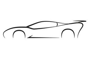 300x200 Outline Sport Car Symbol Silhouette Business Company Vector Logo