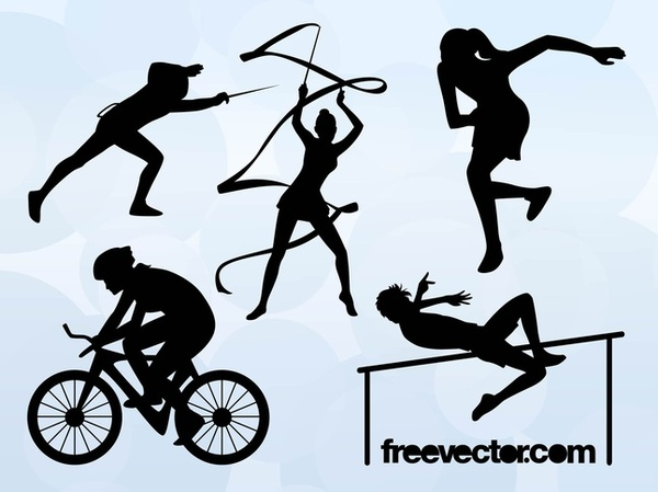 600x449 Olympic Sports Silhouettes Free Vector Free Vectors Ui Download