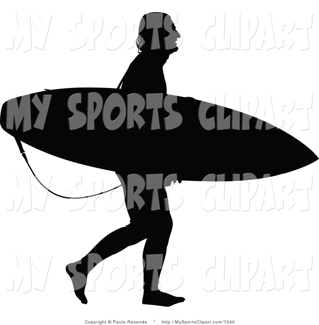 1024x1044 Sports Clip Art Of A Surfer Dude Silhouette By Paulo Resende