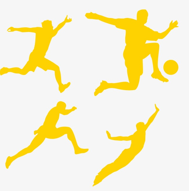 650x657 Sport Silhouette Figures, Movement, Physical Education, Play