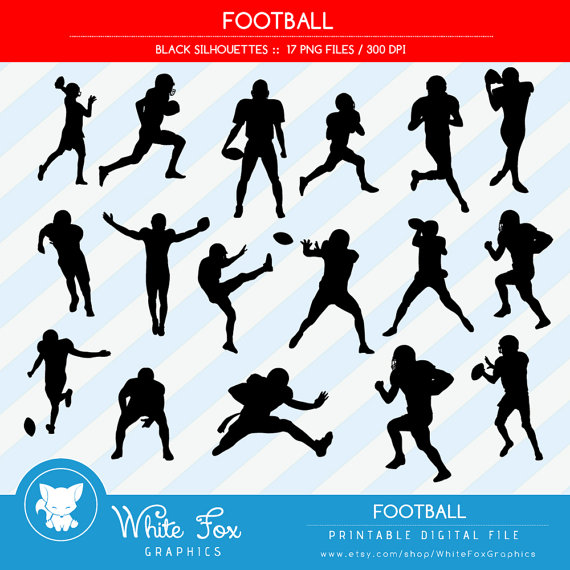 570x570 50% Off Sale Football Silhouettes, Sports Silhouette, Athlete
