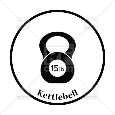 400x400 Silhouette Of Kettlebell Icon Royalty Free Vector Clip Art Image