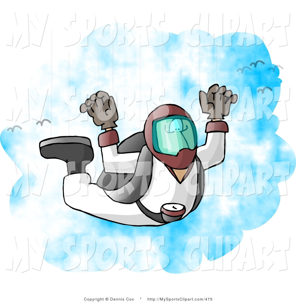 1024x1044 Sports Clip Art Of A Skydiver Falling From The Sky By Djart