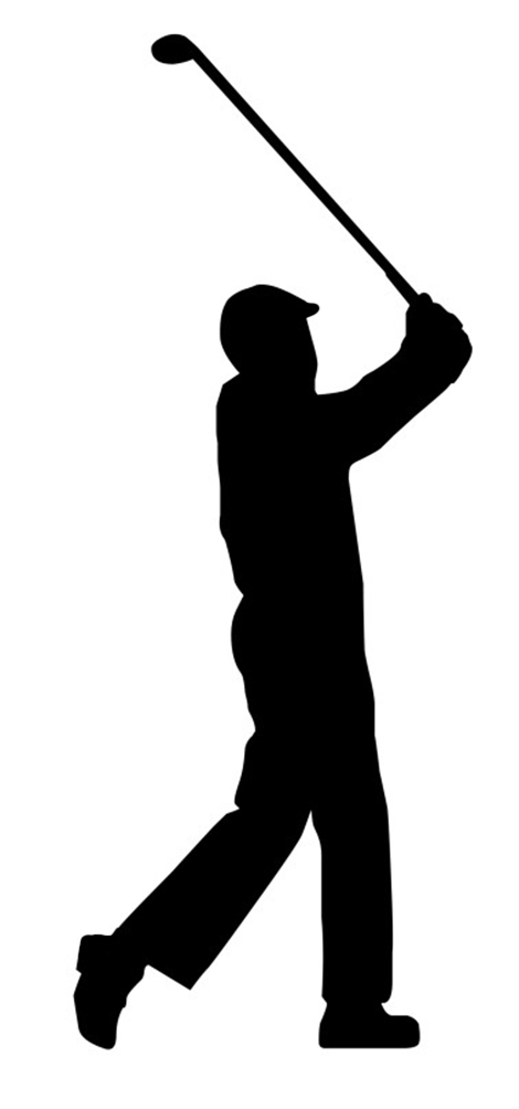 470x1004 Golf Silhouette Clipart