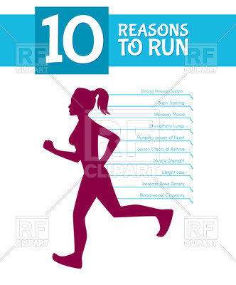 332x400 Poster With Silhouette Of Running Girl And List Of The Reasons