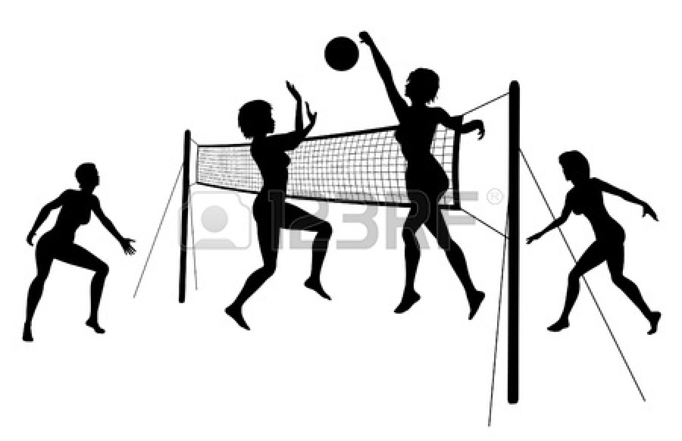 1350x873 Volleyball Player Hitting Silhouette Clipart Panda