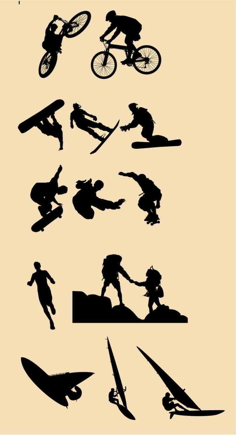 782x1440 Silhouette Free Vector,psd Download