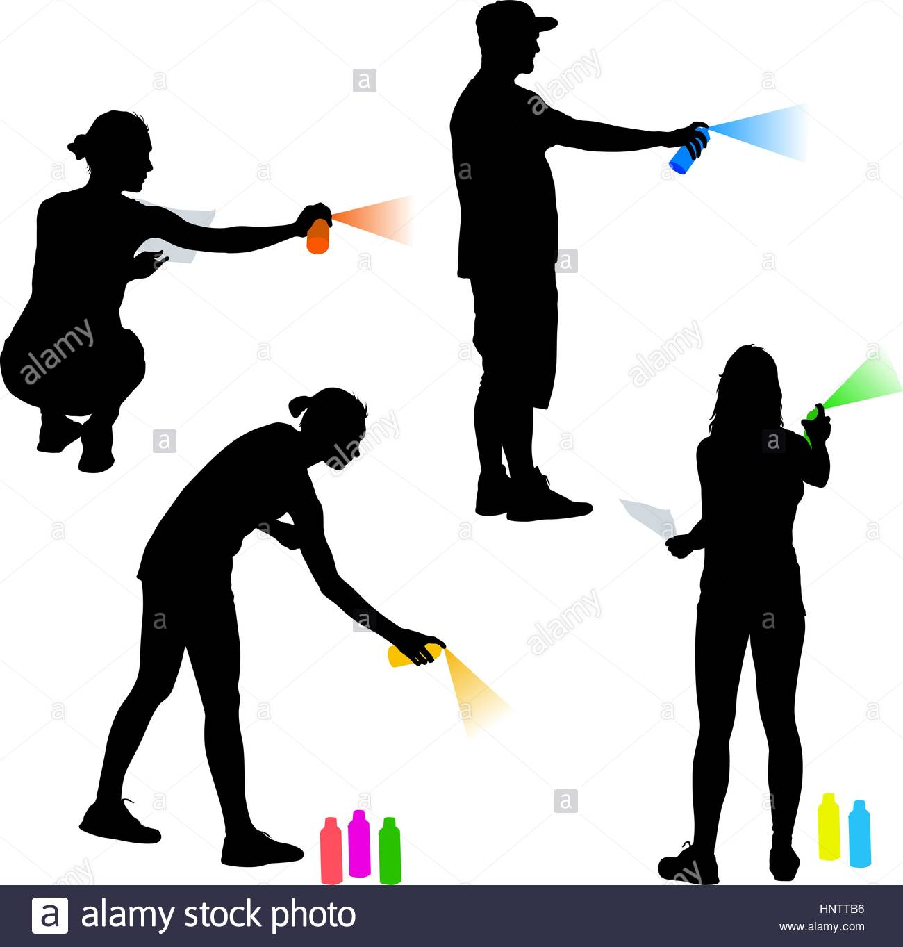 1300x1363 Set Silhouette Man And Woman Holding A Spray On A White Background