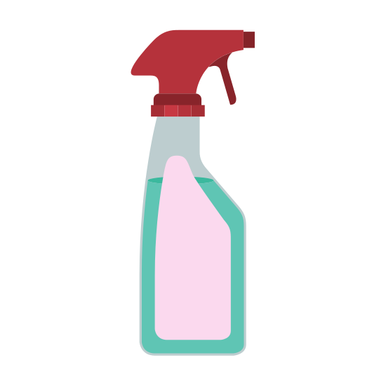 550x550 Colorful Silhouette Of Laundry Spray Bottle