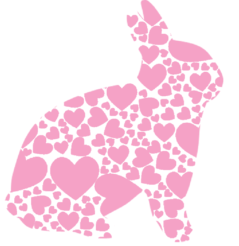 800x823 Silhouette, Heart, Pink, Spring, Bunny, Holiday, Easter