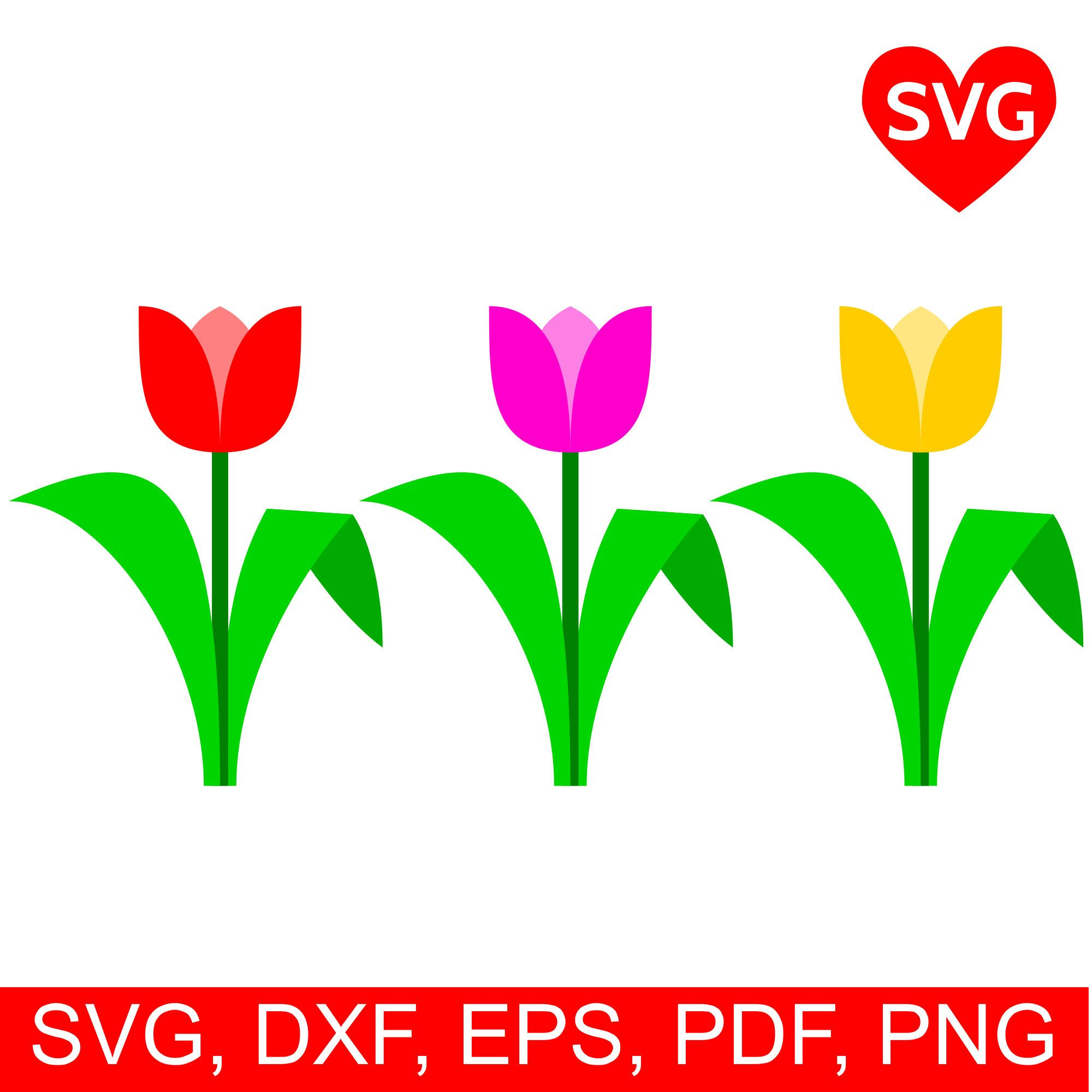 2000x2000 Tulip Svg File For Cricut Amp Silhouette To Celebrate Spring