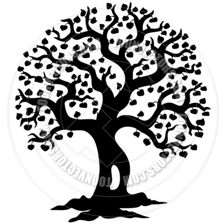 460x460 Cartoon Spring Tree Silhouette By Clairev Toon Vectors Eps