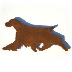 236x236 English Springer Spaniel Wall Silhouette Art Dog Profile Symbol