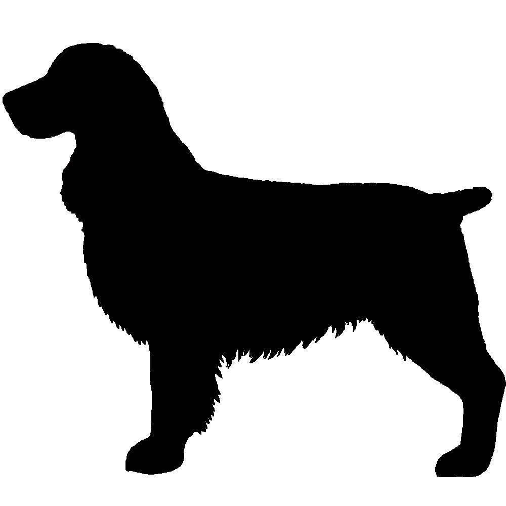 1000x1000 7al Springer Spaniel Black Silhouette Imprinted On A Peerless 43