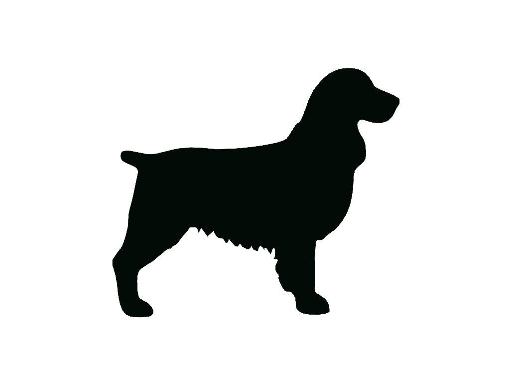 1024x768 Springer Spaniel Dog Breed Silhouette Custom Die Cut Vinyl