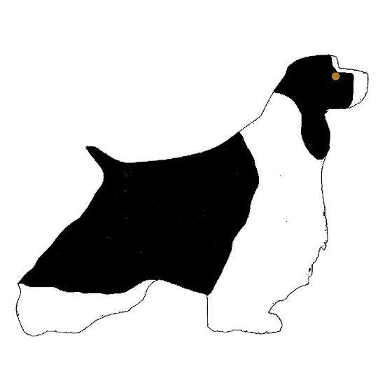 550x550 English Springer Spaniel Black White And Tan Silhouette English