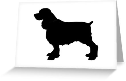 441x283 English Springer Spaniel Dog Silhouette, Freehand Drawing