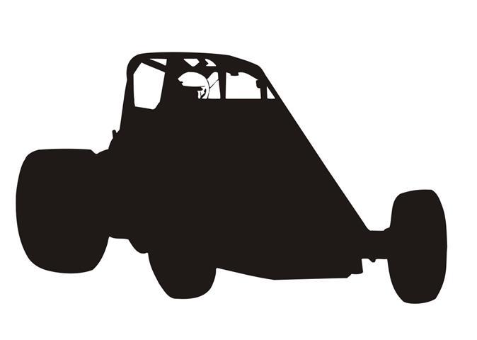 674x480 Wingless Sprint Car Sillhouette 1 Decal Sticker