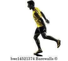 217x194 Art Print Of Young Man Sprinter Runner Running Winner Finish Line