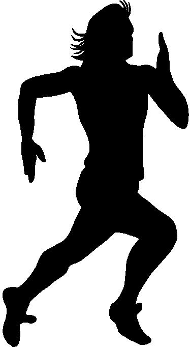 374x682 Sprinter Silhouette Wall Sticker