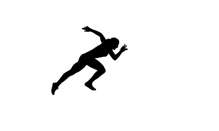 700x420 Woman Sprinter Silhouette Wall Decal Wallmonkeys