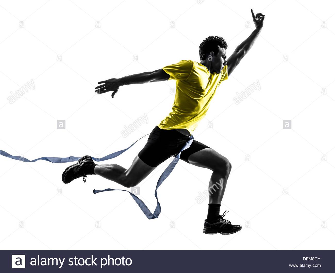1300x1061 One Man Young Sprinter Runner Running Winner
