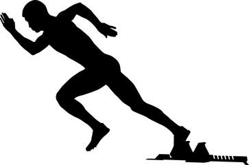 363x240 Start Of A Sprinter Runner Men Black Silhouette