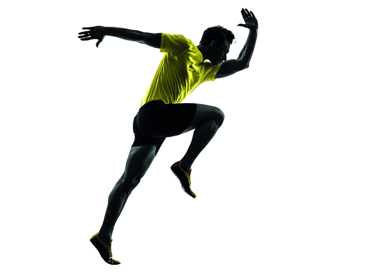 1417x1060 Young Man Sprinter Runner Running Silhouette