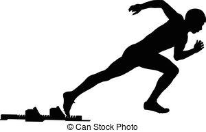 300x193 Black Silhouette Explosive Start Athlete Sprinter Runner
