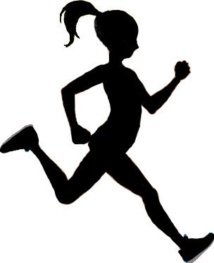 304x372 Girl Sprinter Silhouette