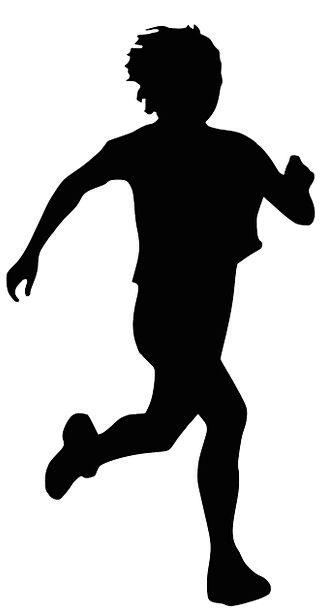 326x608 Runner, Sprinter, Diversion, Jogging, Nudging, Sport, Silhouette